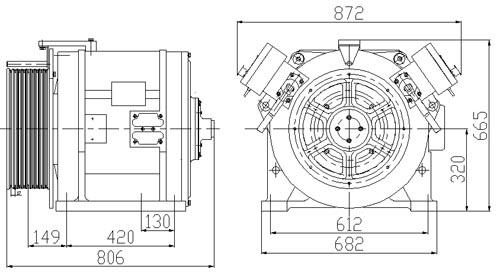 المحركات الأرضية النادرة والمغناطيسية الدائمة (REPM MOTORS) ، YTW1-320PD
