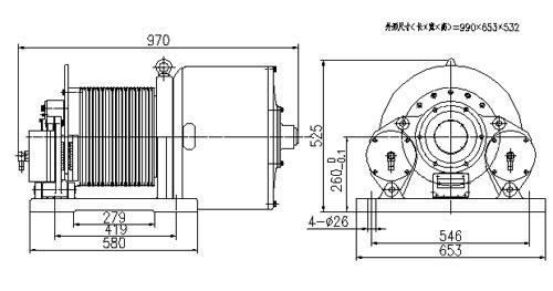 Рэдказямельныя рухавікі з пастаянным магнітам (REPM MOTORS), YTW1-260PF