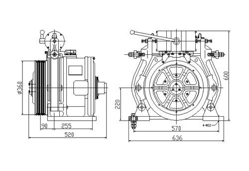 المحركات الأرضية النادرة والمغناطيسية الدائمة (REPM MOTORS) ، YTW2-220GD